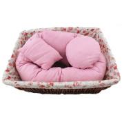 Baby Pillow, Yoyorule 4Pcs Newborn Photography Basket Filler Wheat Donut Posing Props Pillow