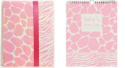 Pepperpot Giraffe Baby Girl or Baby Boy Record Book Journal and Baby's 1st Year Calendar Set