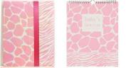 Pepperpot Giraffe Baby Girl or Baby Boy Record Book Journal and Baby's 1st Year Calendar Set