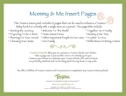 Tessera Baby Books Baby Memory Book Insert Pack, Mommy and Me