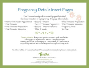 Tessera Baby Books Baby Memory Book Insert Pack, Pregnancy Details