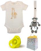 100% Organic Giraffe Baby Shower Gift Set--3 Item Bundle