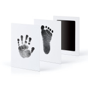 """3-Pack Extra Large Baby Safe """"Inkless Touch"""" Handprint and Footprint Ink Pads, 100% Non-Toxic & Mess Free"""