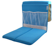 Life Upgrade Bath Kneeler in Blue - Padded Knee and Elbow Baby Bath Tub Cushion Mat with Pockets