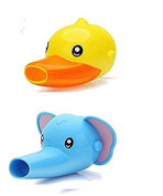 Cartoon Elephant and Duck Faucet Extender for Babies & Toddlers – Cute Bathroom Safety Products
