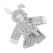 Baby Aspen Best Bunnies Hooded Spa Robe, Grey/White