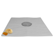 Evelots Non Slip Bath & Shower Mat With Powerful Suction Cups, 60cm X 60cm