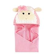 Hudson Baby Animal Hooded Towel, Little Lamb, 80cm x 80cm