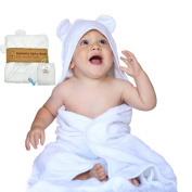 100% ORGANIC Bamboo Baby Bear Hooded Bath Towel & Washcloth Gift Set –Luxuriously Soft, Extra Large Towel With Hood & Hypoallergenic for Babies & Toddlers – Unisex - BONUS Baby Nail Clipper