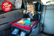 Kids E-Z Travel Lap Tray, provides organised access to drawing, snacks and activities for hours on-the-go. Includes BONUS printable travel games.