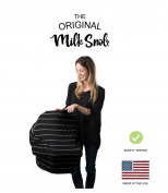 """AS SEEN ON SHARK TANK The Original Milk Snob Infant Car Seat Cover and Nursing Cover Multi-Use 360° Coverage Breathable Stretchy """"Onyx"""""""