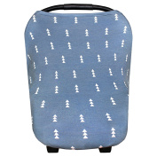 """Baby Car Seat Cover Canopy and Nursing Cover Multi-Use Stretchy 5 in 1 Gift """"North"""" by Copper Pearl"""