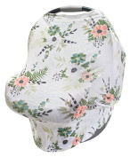LulaBaby - 360° 4-in-1 Stretchy Baby Nursing Cover, Car Seat Canopy, and Shopping Cart Cover