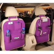 M'Baby 1pc Seat Back Car Organiser Woollen Felt Seat Back Kick Protectors for Kids, Storage Bottles, Tissue Box, Toys