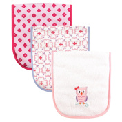 Luvable Friends 3 Piece Burp Cloth with Fibre Filling, Owl