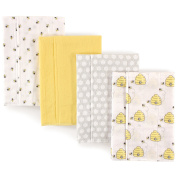 Hudson Baby Flannel Burp Cloths, Bumble Bees