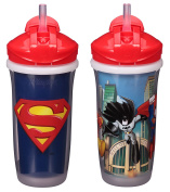 Playtex Sipsters Stage 3 Super Friends Straw Sippy Cups for Boys - 270ml - 2 Count