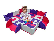 Wee Giggles Non-Toxic, Extra Thick Foam Play Mat for Tummy Time and Crawling