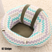 WXLAA Lovely Baby Support Seat Colourful Pattern Car Pillow Cushion Sofa Plush Toys,Stripe