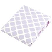 Kushies Baby Portable Play Pen Sheet, Lilac Lattice