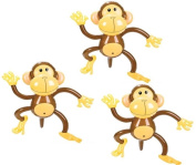 Set of Three Adorable Inflatable 70cm MONKEYS ZOO Party Favour Decor Jungle Animals Birthday by RIN