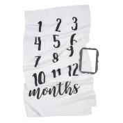 Mud Pie Monthly Milestone Blanket Photo Prop Set