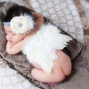 Newborn Baby Photography Props Angel Wings and Hair Band Cute Photo Accessory