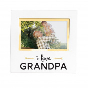 Pearhead Sentiment Keepsake Photo Frame, White I love Grandpa