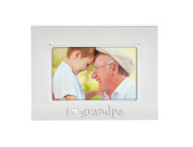 Tiny Ideas Keepsake Sentiment Photo Frame, I Love Grandpa, Silver