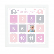 Tiny Ideas First Year Photo Wall Frame, Purple