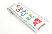 Kids Rule Alphabet Plastic Roll-Up Growth Height Chart. Includes Mini Marker Pen, Measures From Birth To Adult. Choice Of 3 Bright Designs