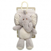 Plush Animal with Rattle Clip-On Toy