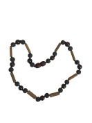Bloodstone + Lava Stone + Hazelwood Baby and Toddler Necklace. Colic, Reflux and Teething. Individually knotted.