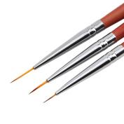 DDLBiz 3pcs Nail Art Brush Drawing Dotting Drill Pen Painting Pen Pencil Nail Art Tools