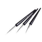 DDLBiz 3pcs Tiny Acrylic Nail Art Design Decoration Pen Brush Painting Drawing Tool