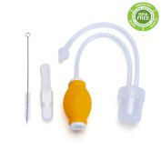 PREMIUM BABY NASAL ASPIRATOR - Food Grade Snot Sucker-Anti-Backflow BPA-Free - Safety, Gentle for Infant Nasal Congestion, Removing Mucus Gently with Super Soft Silicone Tip- Baby Healthcare Kit