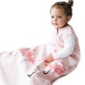 Wee Urban Cosy Basics 4 Season Baby Sleeping Bag, Pink Flamingo, Medium 6-18