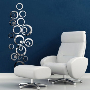Removable Bubbles 3D Acrylic Mirror Wall Decal Circles Wall Sticker