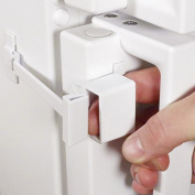 LIVSafe Refrigerator Lock 1-Hand Use Self-Locking Child Proofing Baby Kitchen Safety Latch-White