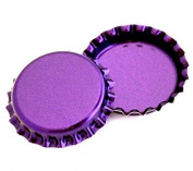 100 Purple Metallic Bottle Caps Shiny Colours Craft Linerless