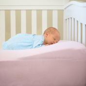 Kiddie Famous Baby Positioning Wedge - Safety and Comfort for Your Baby's Good Night Sleep. 100% Pure Cotton and Waterproof. Fits Well with Any Crib Size. Easy to Clean.