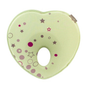 CdyBox Cotton Infant Head Shaping Pillow Newborn Baby Anti-Roll Positioner Heart Shape