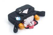 Stroller Organiser - 100% Neoprene - Good Insulation - Wide Hook and loop Locking Straps - 2 Bottle Holders - Detachable Pocket