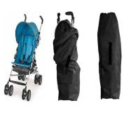 Koogel Travel Gate Cheque Bag for Umbrella Strollers, Black