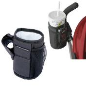 BUYITNOW Stroller Mug Holder Waterproof Oford Fabric Keep Warm Side Bottle Rack