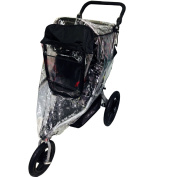Comfy Baby Weather Shield Designed to Fit the BOB Single Revolution/Stroller Models, Comes with A Clear See-Thru Window, Plus Protection Net When Window is Open