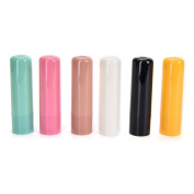 6pcs Plastic Empty Tube Lip Balm Tubes Lipstick,chapstick,homemade Lip Balm DIY Containers with Lid Caps