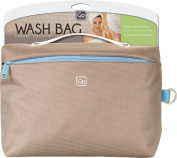 Go Travel Wash Bag, Grey and Brown