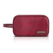 Travel / Cosmetic Makeup Ladies Clutch Toiletry Bag Burgundy