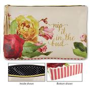 Nip It In the Bud Oil Cloth Bag Large 17 x 25cm x 5.1cm